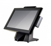 "Cенсорный моноблок POScenter POS314 (14"", 16:9, 1366x768, Resistive touch, C56L, Intel CedarView D2550, 1.86GH, RAM 2Gb, HDD 500Gb, MSR) без ОС"